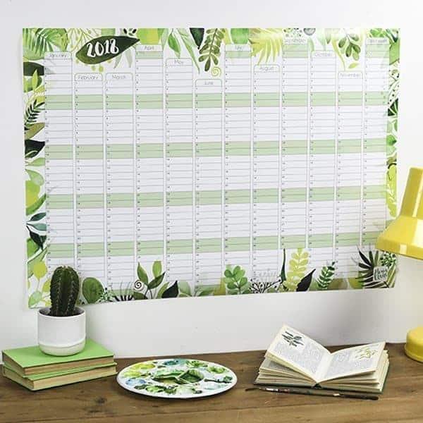 Botanical Wall Planner