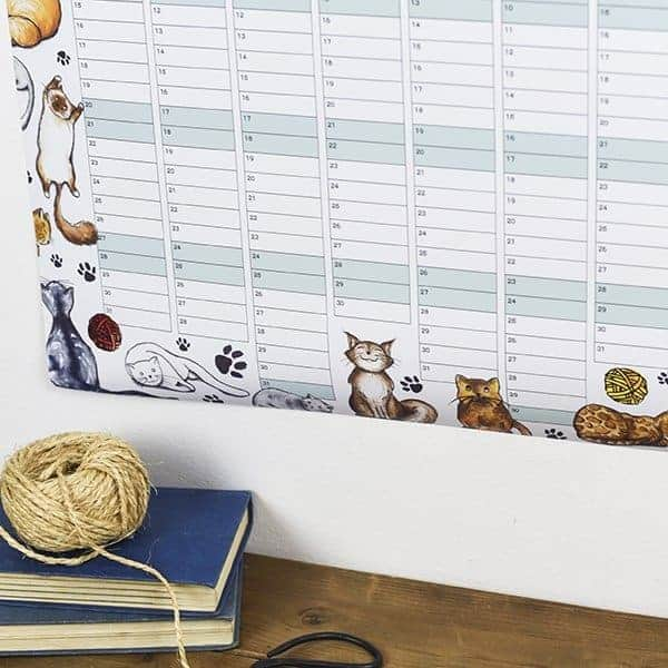 Cats Themed Wall Planner