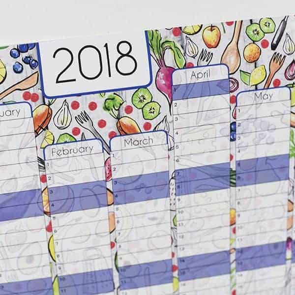 Cooking Themed Wall Planner