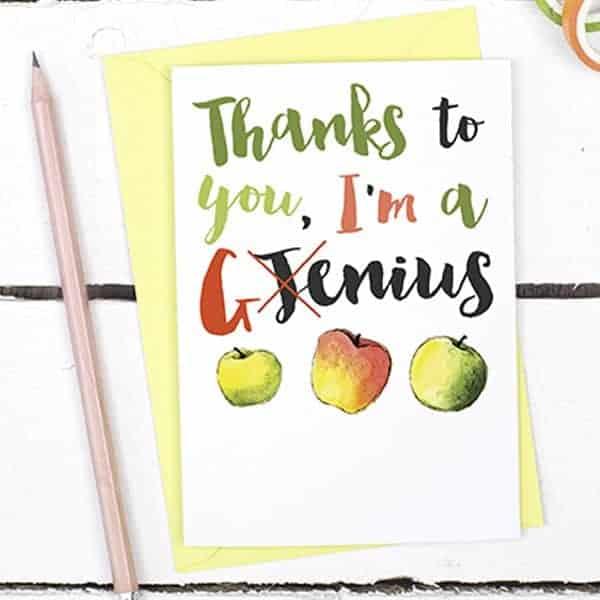 Fun Teacher Thank You Card